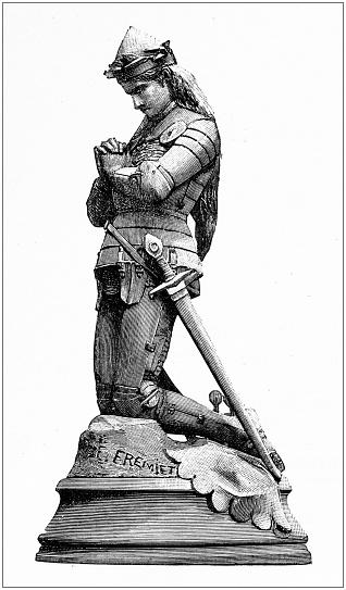 Ancient illustration: Jeanne D'Arc