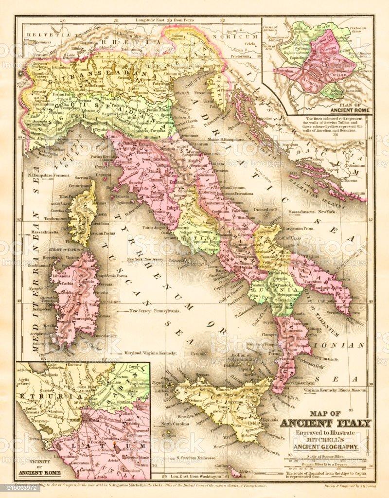 Tarentum Italy Map.Ancient Italy Stock Vector Art More Images Of Adriatic Sea