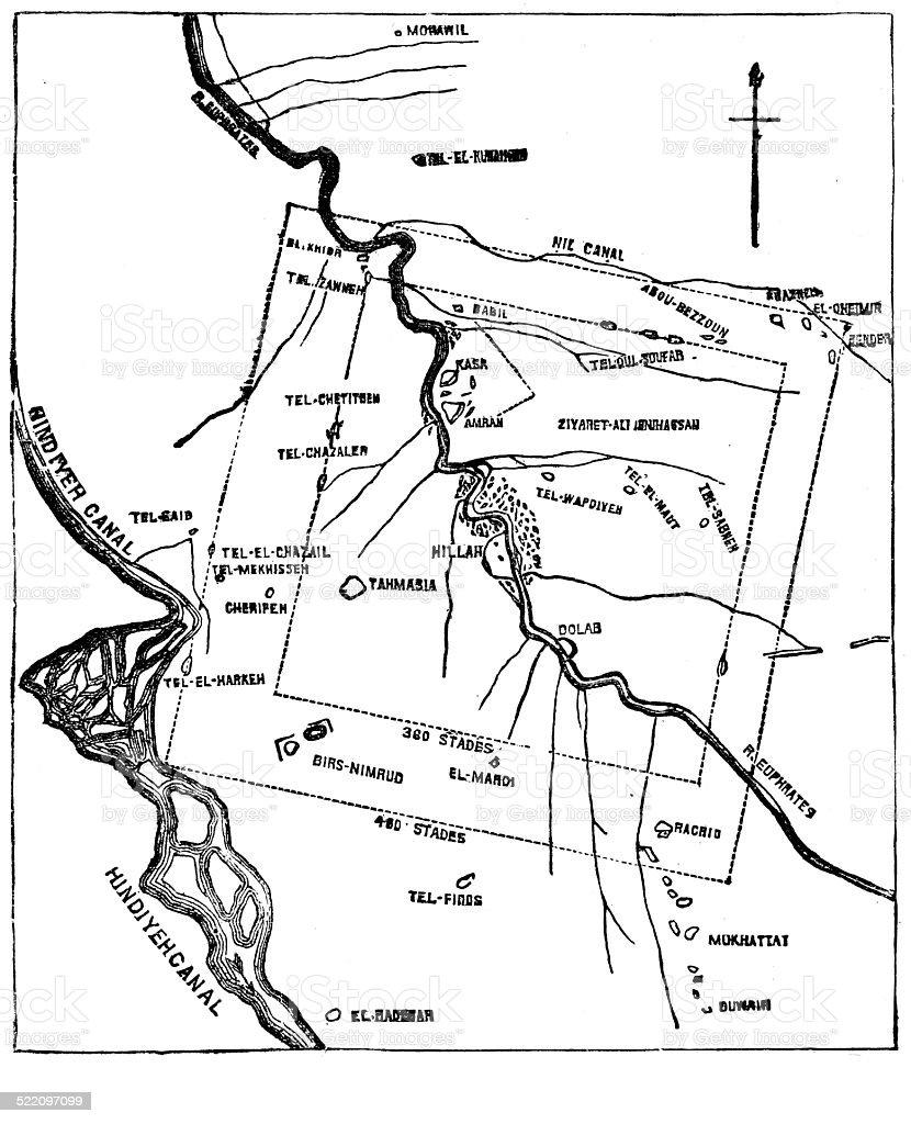 Babylon Karte.Antike Karte Von Babylon Stock Vektor Art Und Mehr Bilder Von Alt