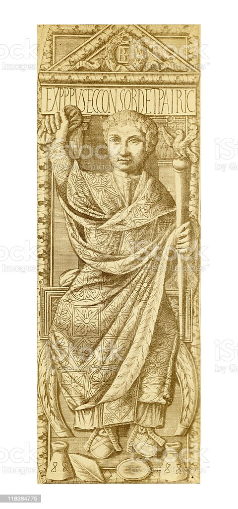Ancient Portrait of Boethius, circa 510 AD royalty-free ancient portrait of boethius circa 510 ad stock vector art & more images of adult