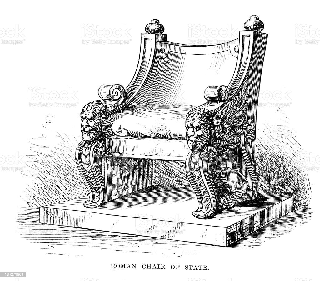 Ancient Roman Chair of State royalty-free stock vector art