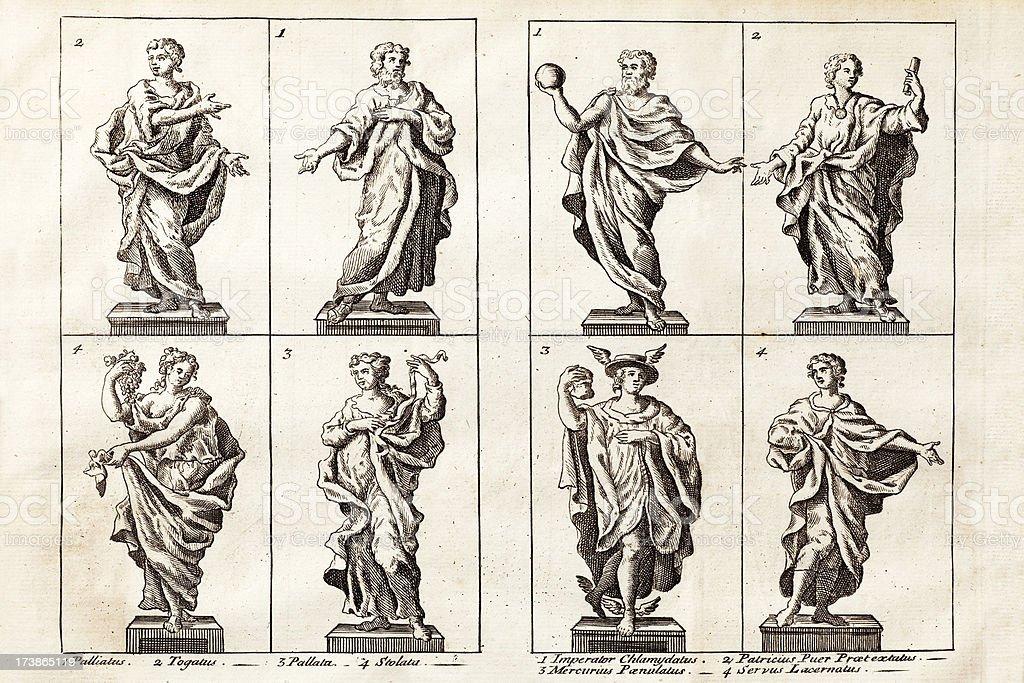 Ancient Roman Fashion royalty-free stock vector art