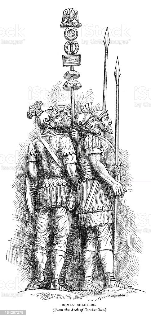 Ancient Roman Soldiers royalty-free stock vector art