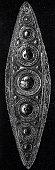 Ancient rome , golden oval tiara