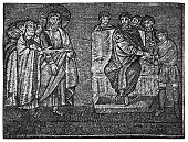 Ancient Rome, Jesus Christ interrogated by Pilate