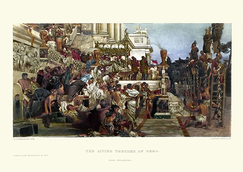 Ancient Rome, Nero's Torches, Christian martyrs burned alive