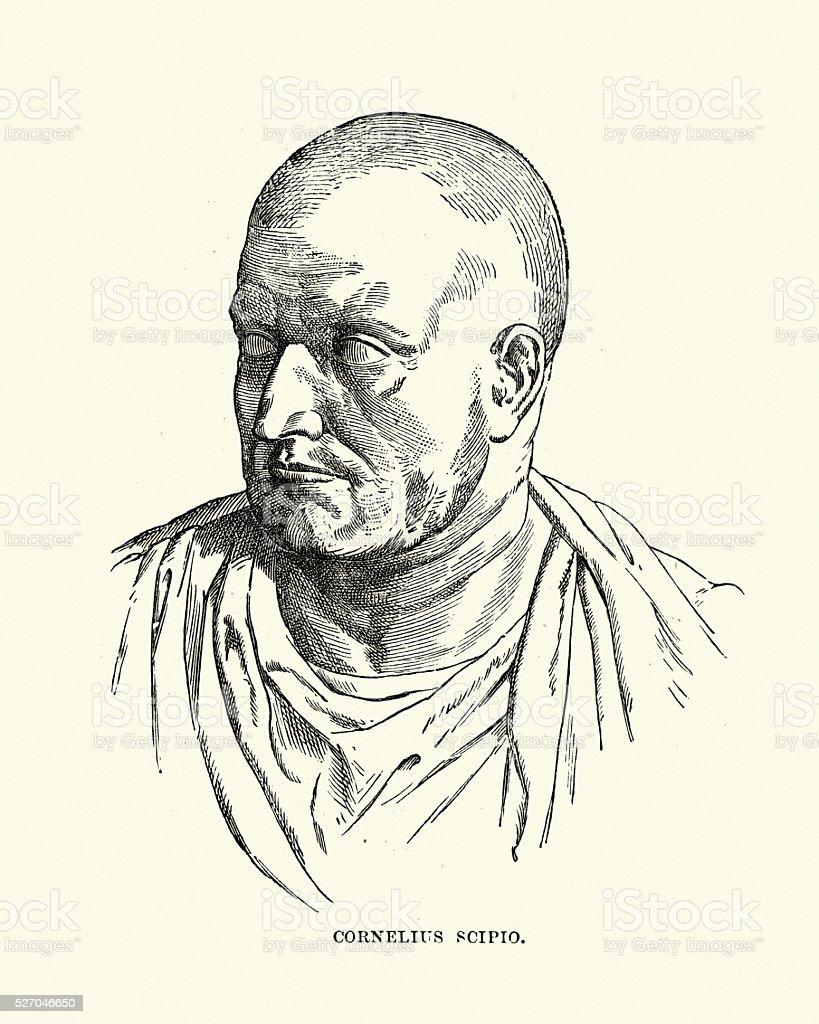 Starożytny Rzymportret Scypion Africanus Stockowe Grafiki