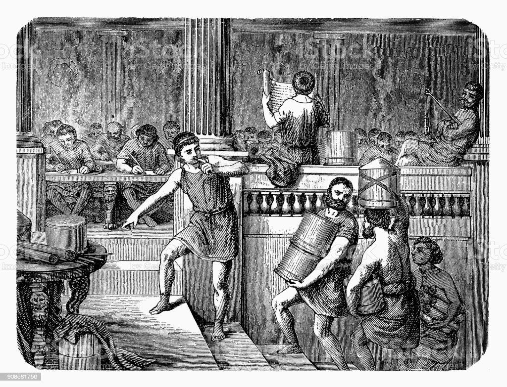 Ancient Rome  - School of Medicine vector art illustration