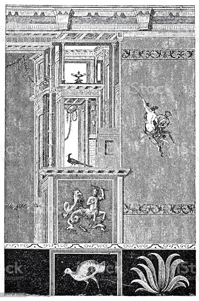 La Rome Antique Peinture Murale De Pompéi Vecteurs Libres De