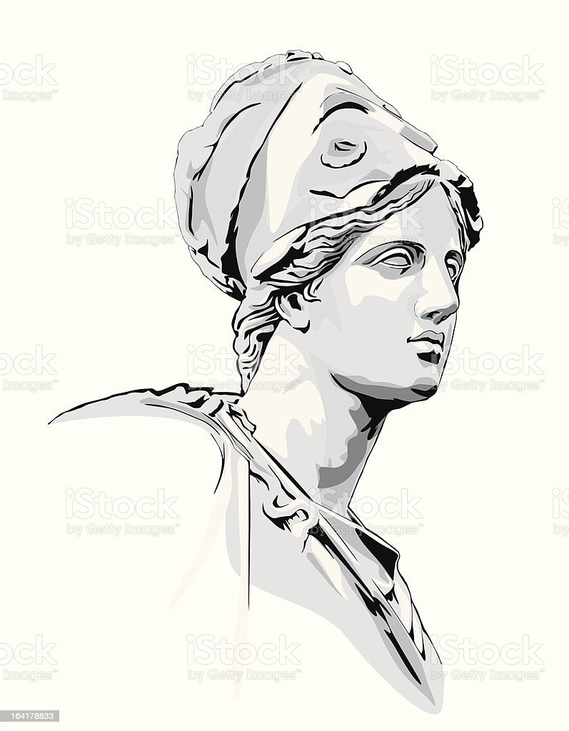 Ancient statue royalty-free stock vector art