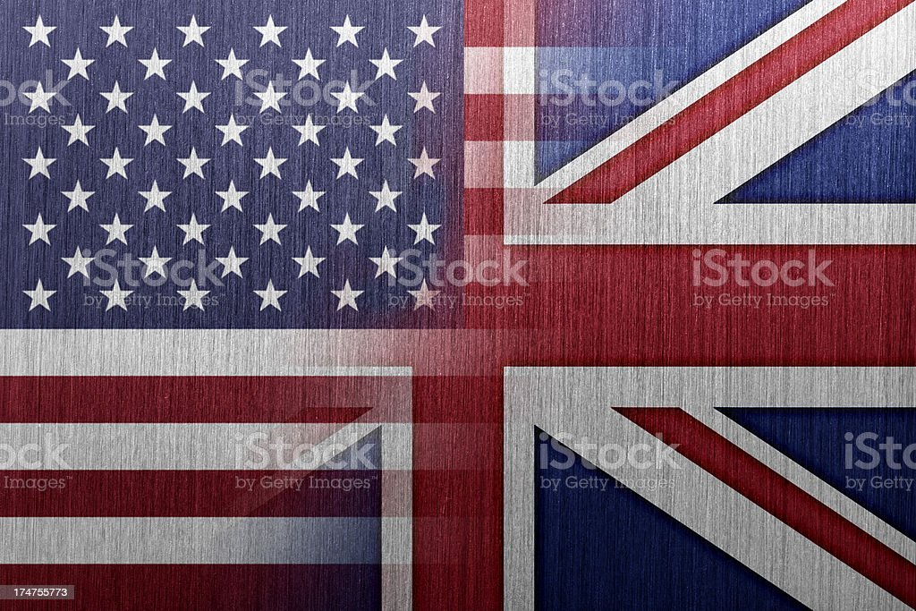 US and UK Flag royalty-free stock vector art