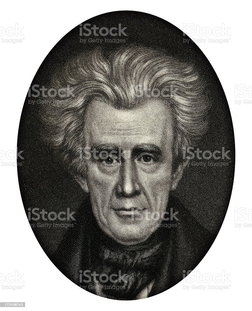 Andrew Jackson, 7th President of the United States vector art illustration