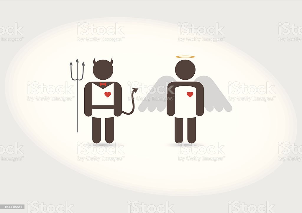 Angel and Devi royalty-free stock vector art