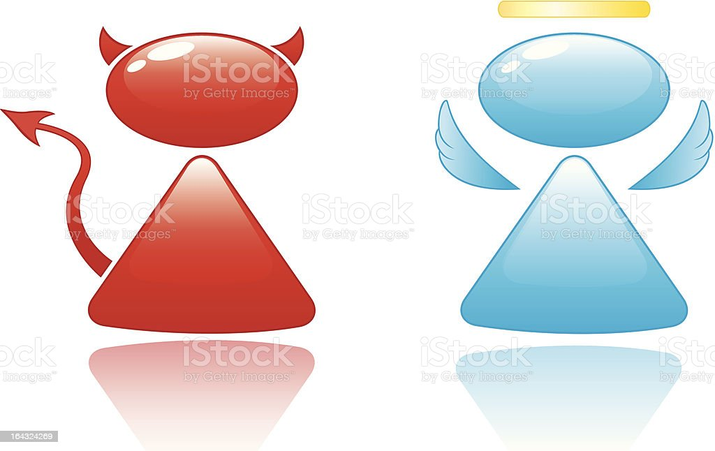 Angel and Devil Icons royalty-free stock vector art