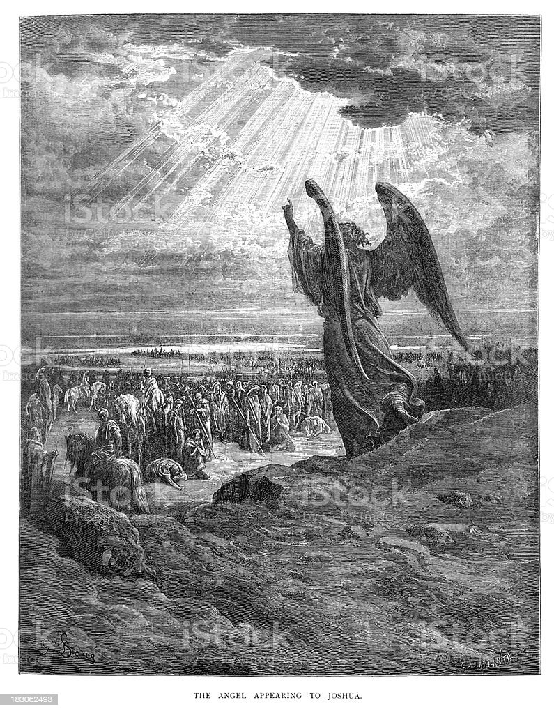 Angel que aparecen en Joshua - ilustración de arte vectorial