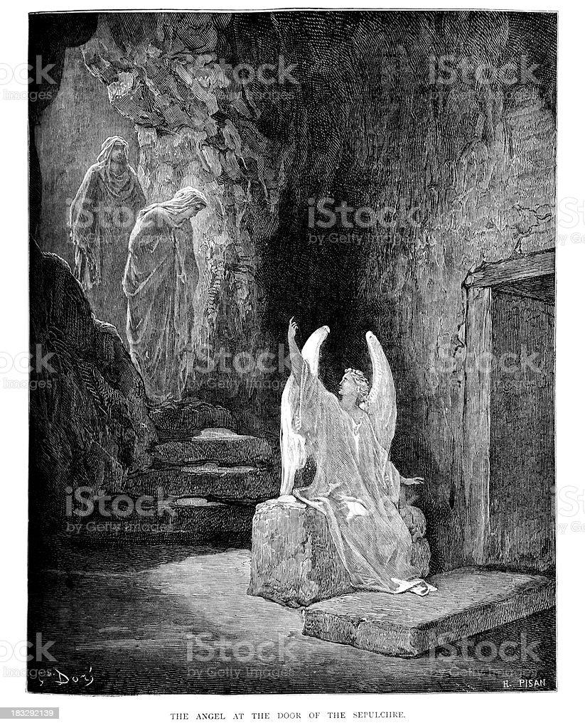 Ángel del Sepulchre - ilustración de arte vectorial