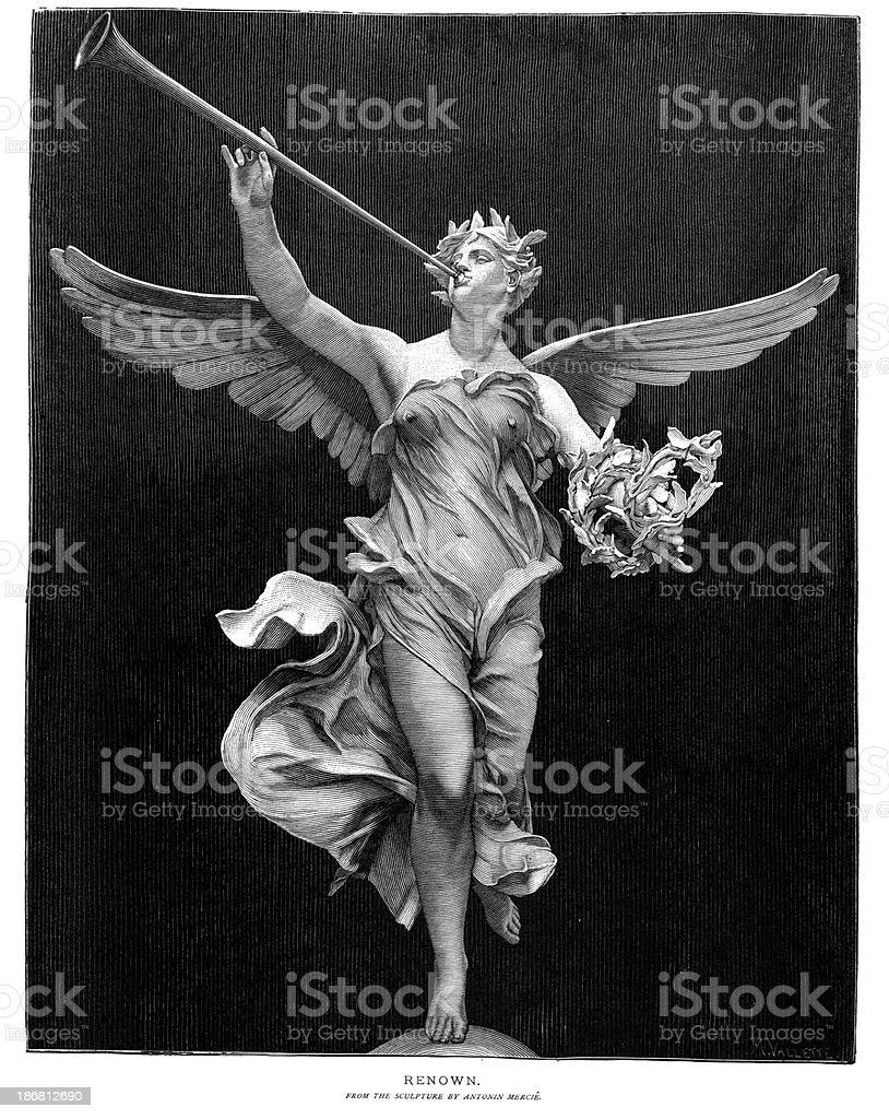 Angel Herald vector art illustration