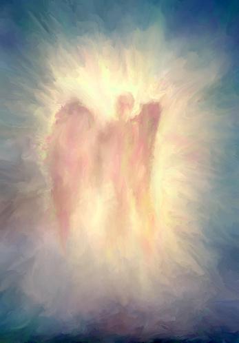 angel, oil painting