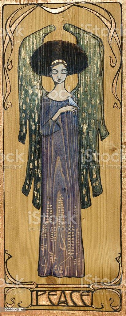 Angel - ilustração de arte em vetor