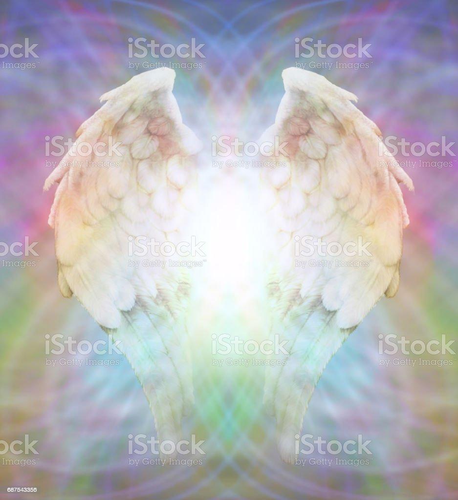 Alas de Ángel en la web matriz multicolor - ilustración de arte vectorial