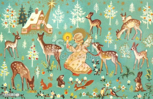 istock Angel With Forest Animals 152405248