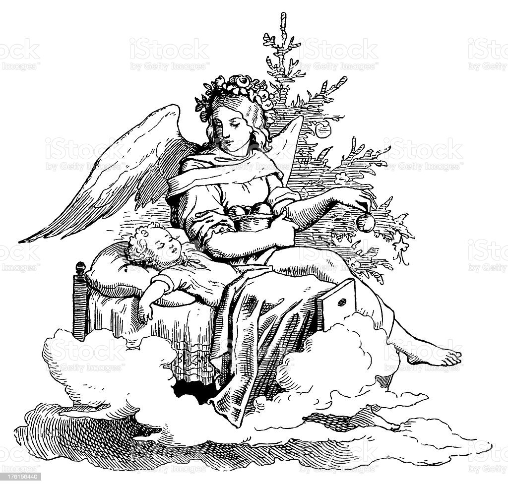 Angel with the Child royalty-free angel with the child stock vector art & more images of adult