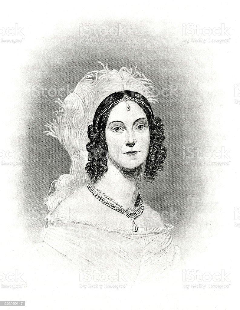 Angelica Singleton Van Buren royalty-free stock vector art