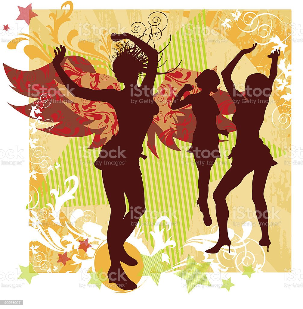 Angels Dance royalty-free stock vector art