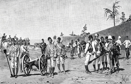 Anglo Egyptian Army, different units