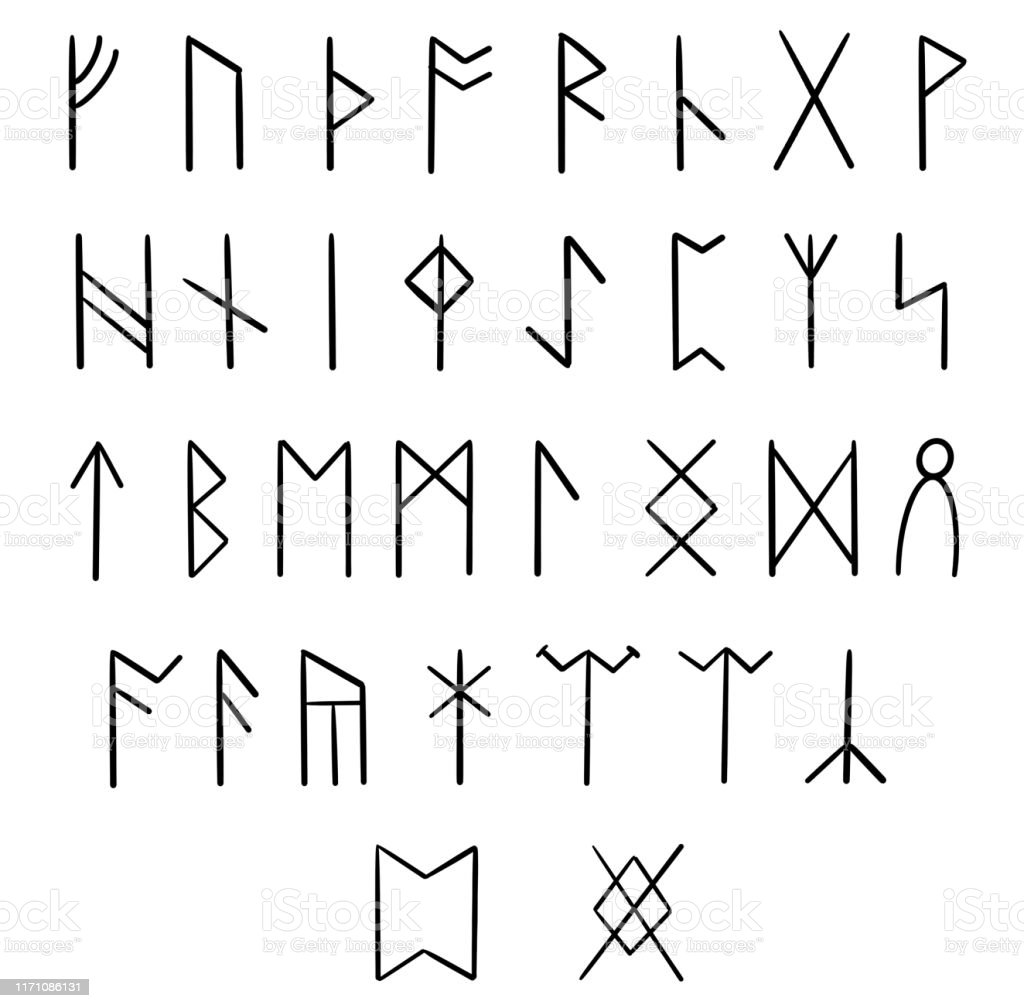 Anglosaxon Futhark Runic Font 33 Runes Stock Illustration Download Image Now Istock