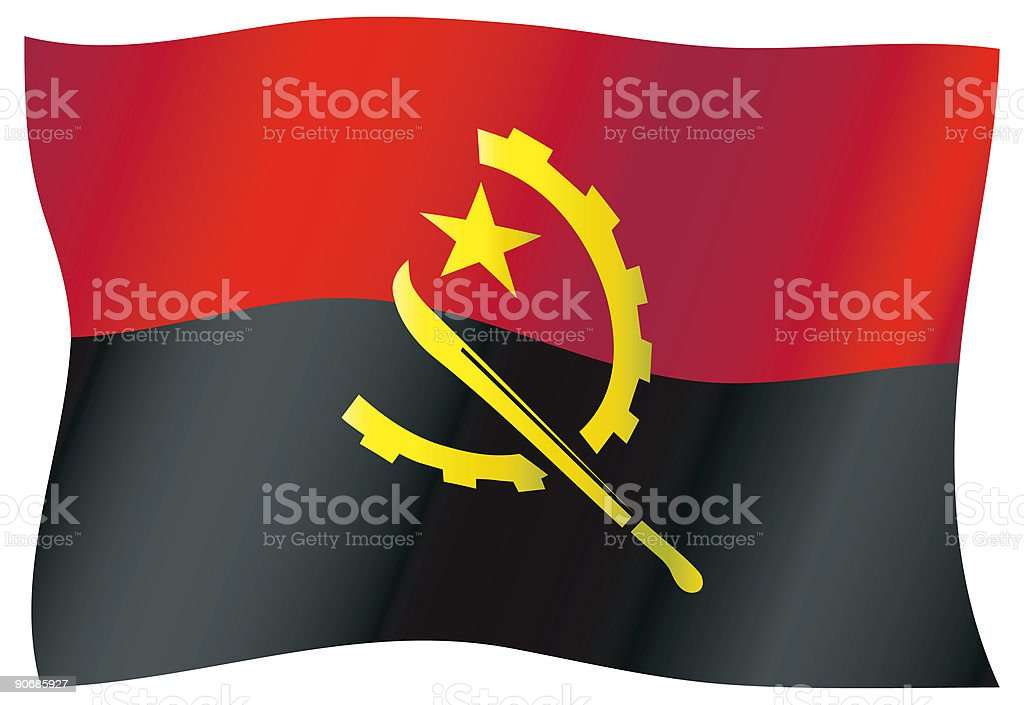 Angola Flag royalty-free angola flag stock vector art & more images of africa