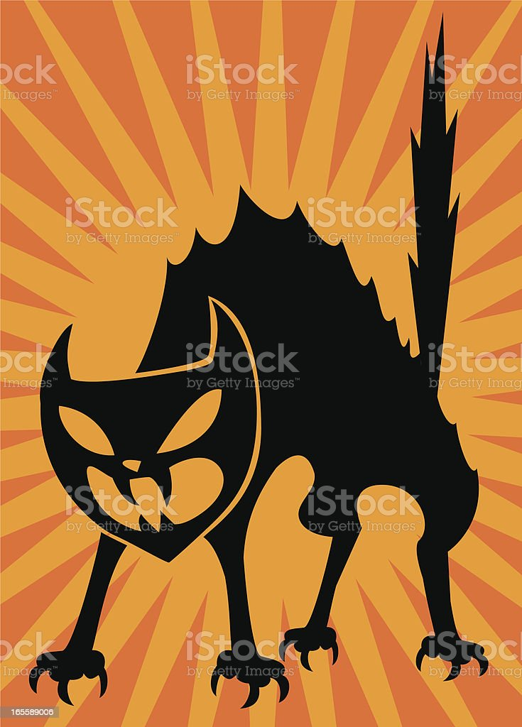 angry cat royalty-free stock vector art