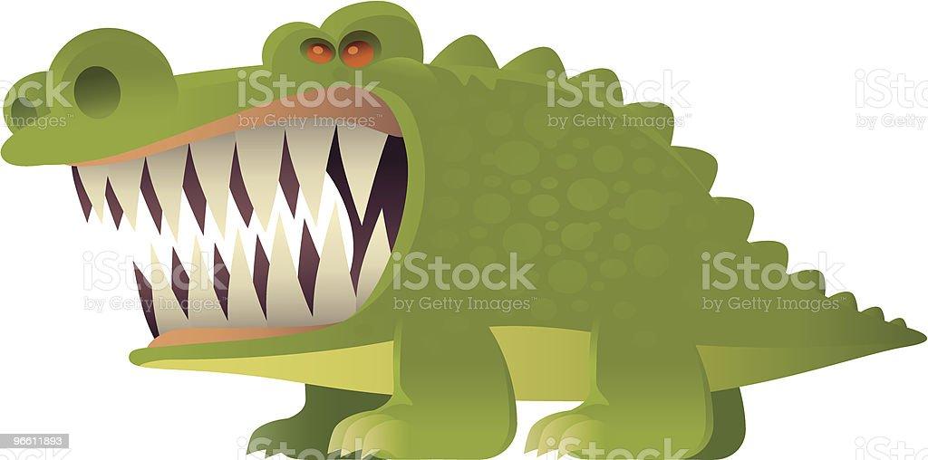 Злая крокодил - Векторная графика Агрессия роялти-фри