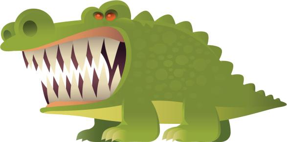 Злая Крокодил — стоковая векторная графика и другие изображения на тему Агрессия