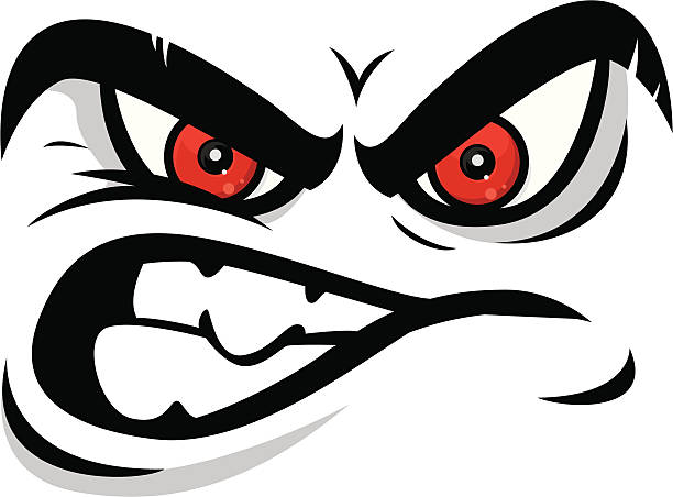 angry face cartoon angry face displeased stock illustrations