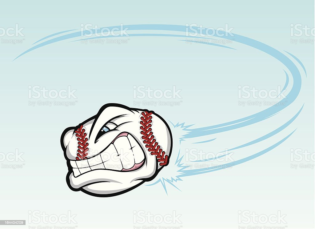Angry Fastball vector art illustration