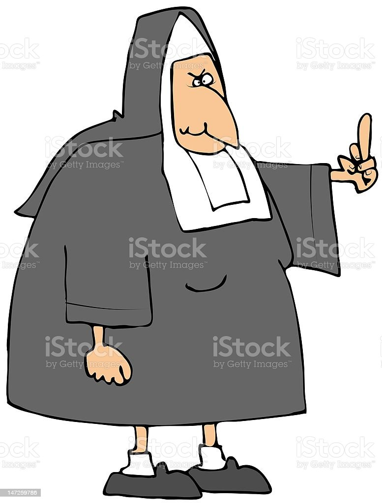 Angry Nun royalty-free angry nun stock vector art & more images of adult