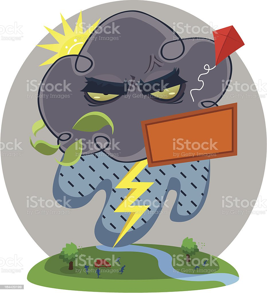 Angry Storm Cloud royalty-free stock vector art