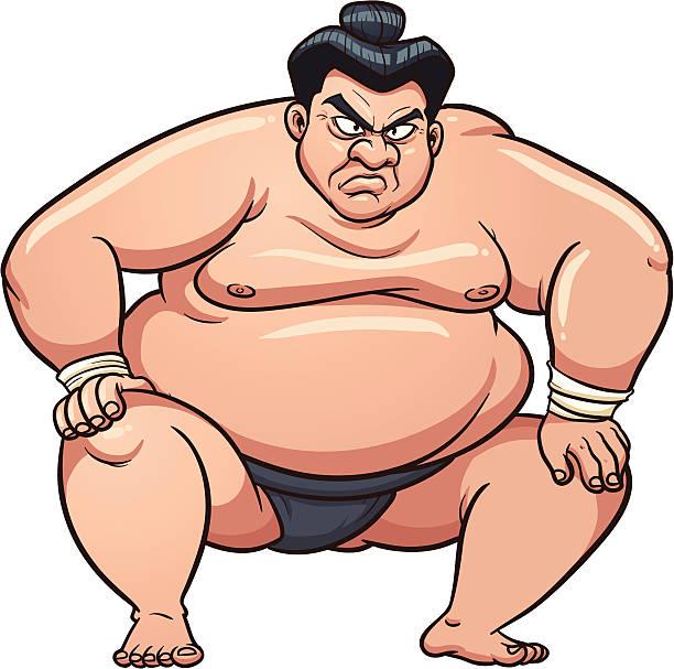 wütende sumo-wrestler - sumo stock-grafiken, -clipart, -cartoons und -symbole