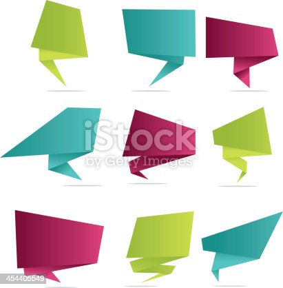 Angular speech bubbles