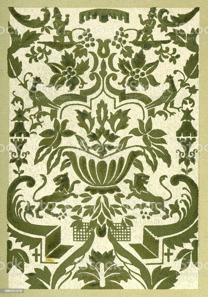 Animal Affrontes Pattern - 16th Century royalty-free animal affrontes pattern 16th century stock vector art & more images of 16th century