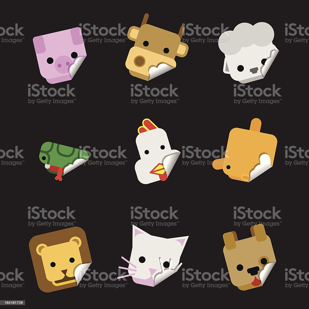animal farm 02 | sticky set royalty-free stock vector art