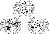 animals stencil set