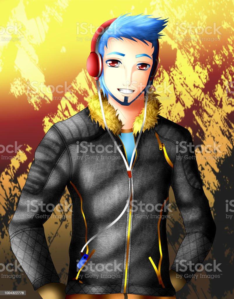 Ilustración de Anime Boy y más banco de imágenes de Adulto ...