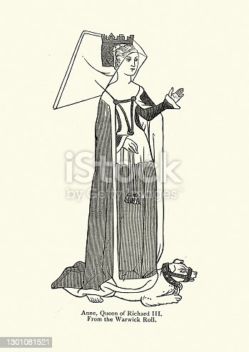 istock Anne Neville, Queen of England as the wife of King Richard III 1301081521