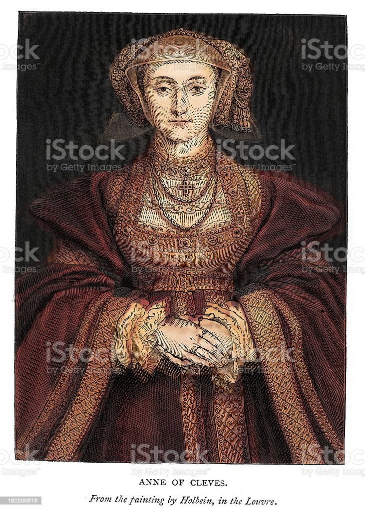 Anne of Cleves royalty-free stock vector art