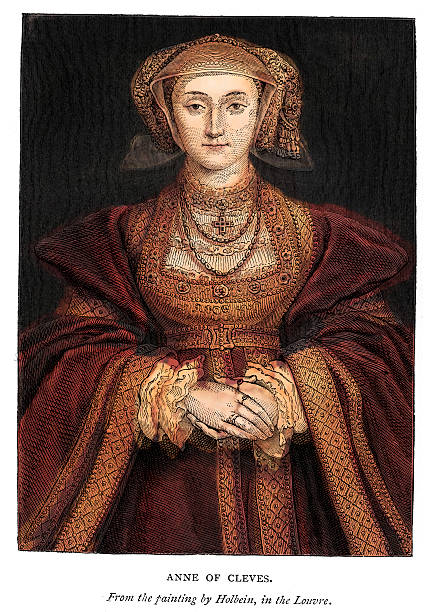 anne of cleves - renaissance style stock illustrations, clip art, cartoons, & icons