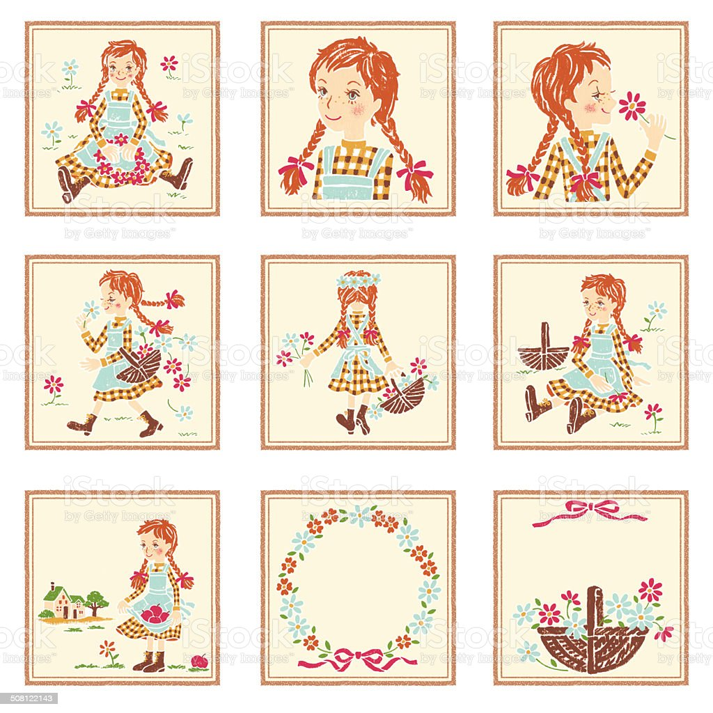 Anne of Green Gables, vector art illustration