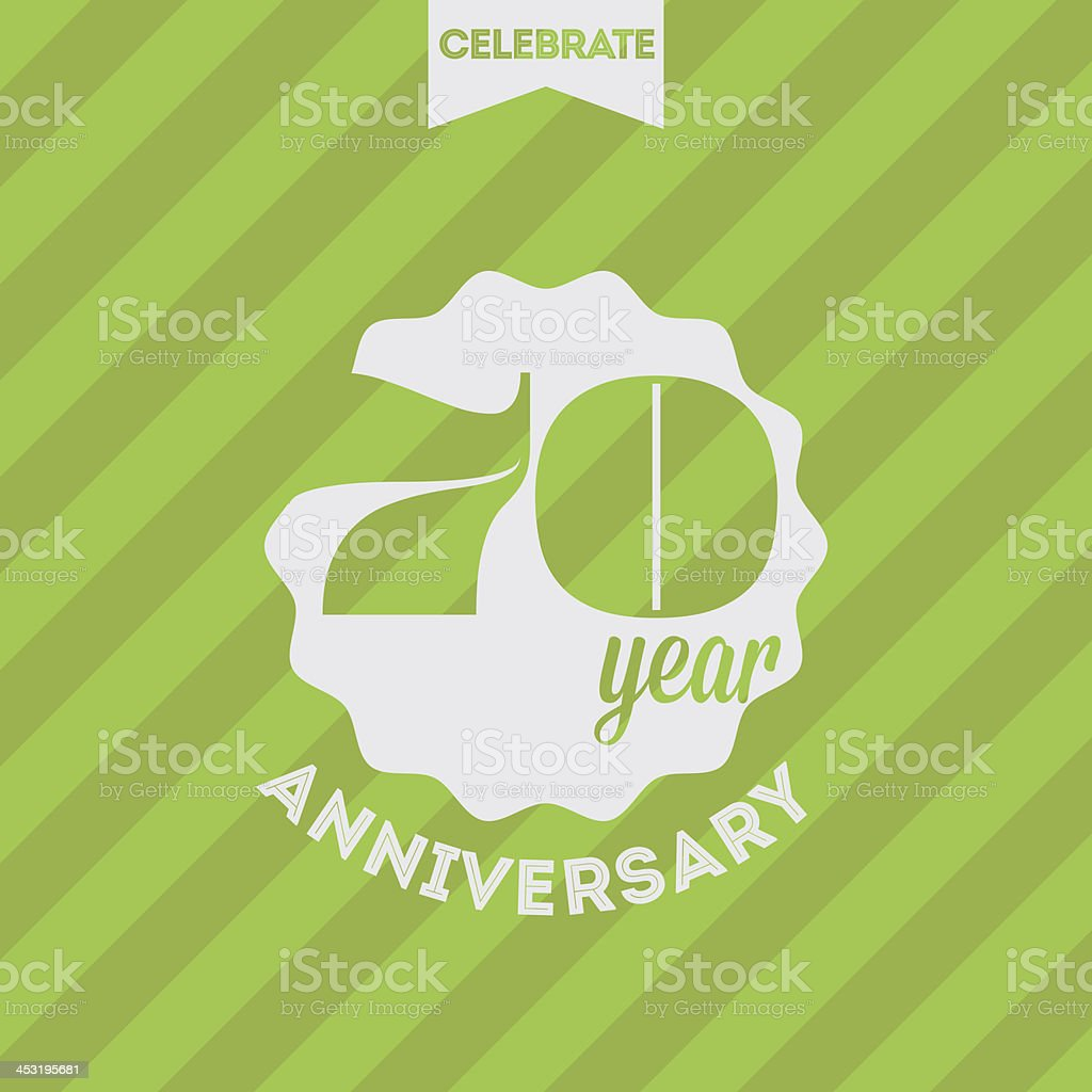 Anniversary celebration background royalty-free stock vector art