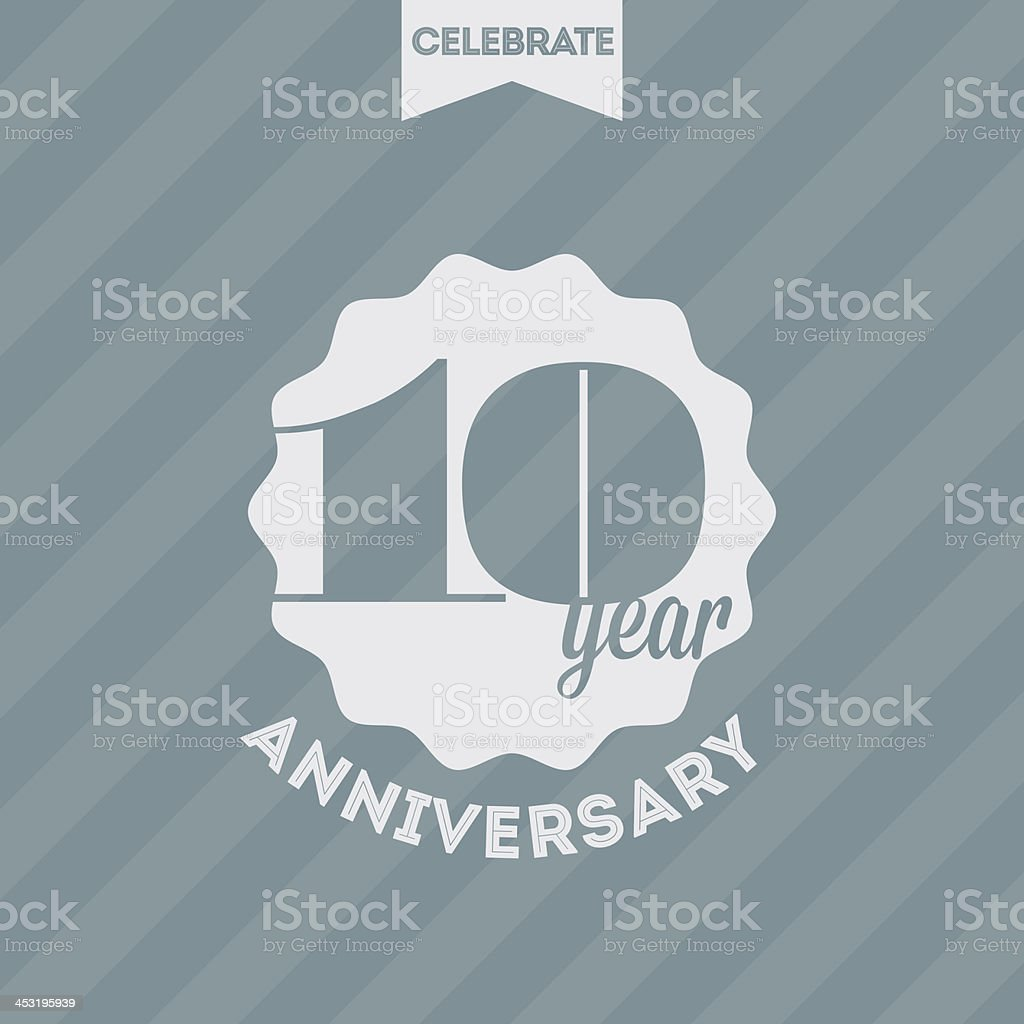Anniversary celebration background royalty-free stock vector art